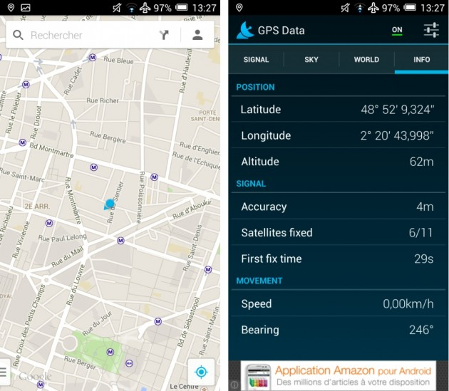 android alcatel one touch idol x geolocalisation synchronisaiton gps images 0