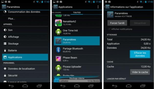 android cacher camoufler disparaitre hide options pour les développeurs developers menu images 0