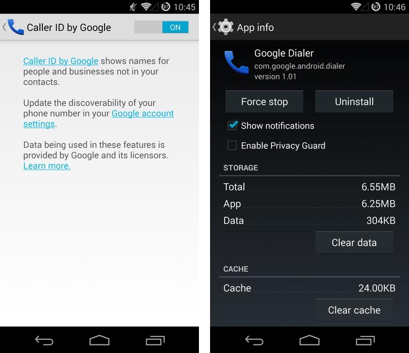 android google dialer recherche google now image 1
