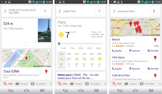android google voice search recherche vocale retour vocale demonstration images 0