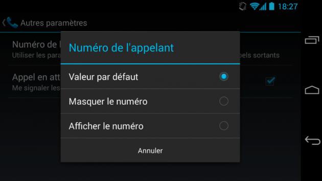 android masquer cacher afficher numéro téléphone image 2