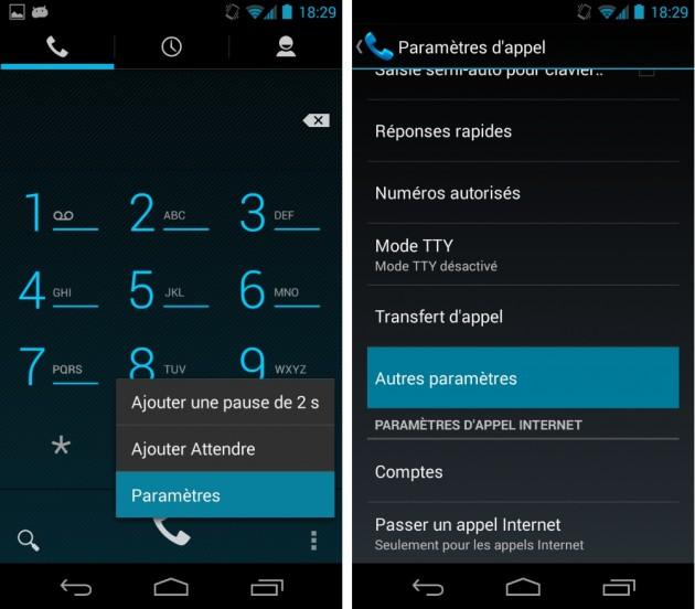 android masquer cacher afficher numéro téléphone images 0