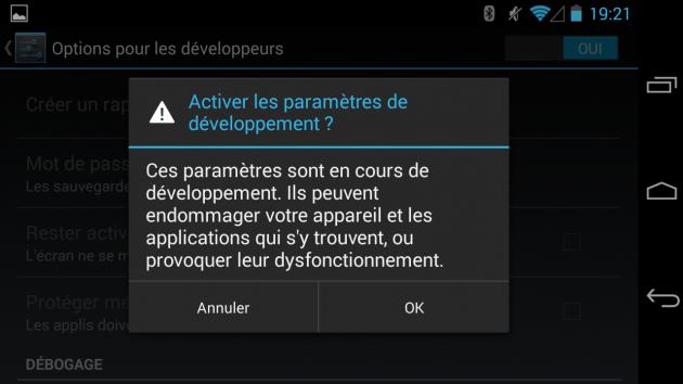 android options pour les développeurs mode image 00