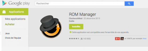 android rom manager premium google play store