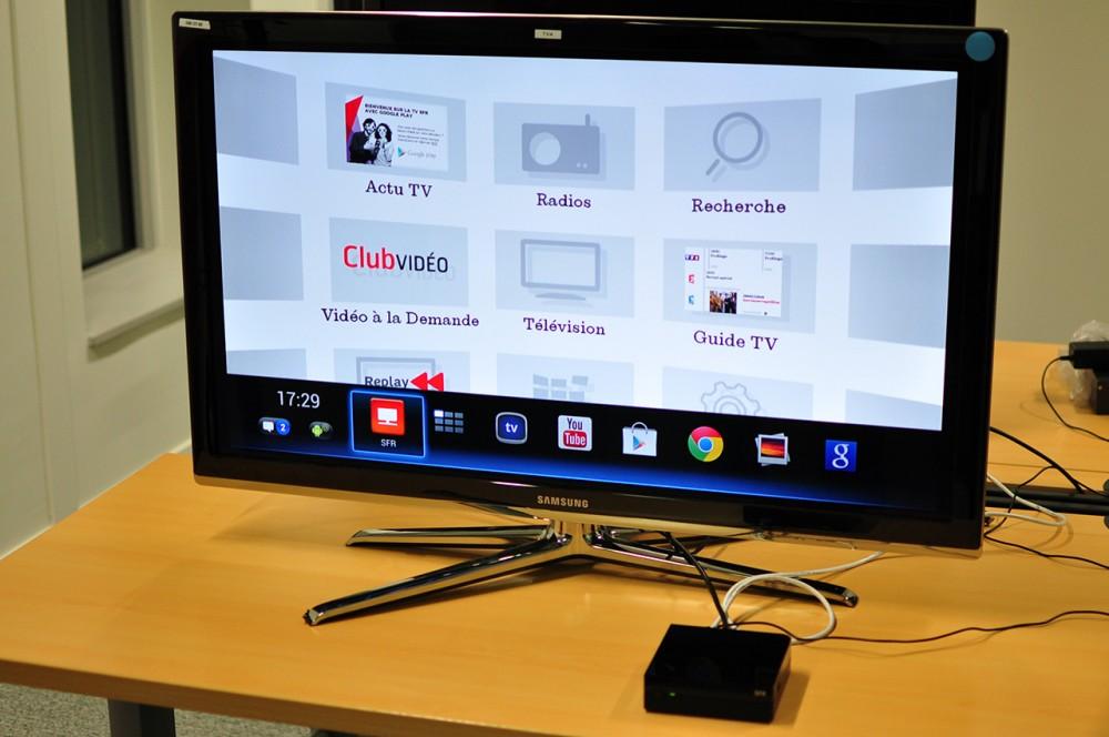 Une interface SFR et Android TV dans le même produit