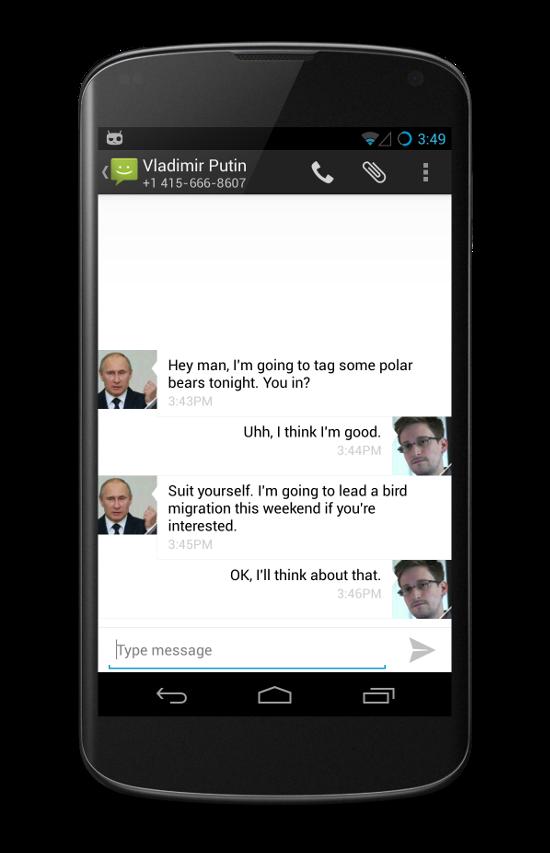 Messages cryptés
