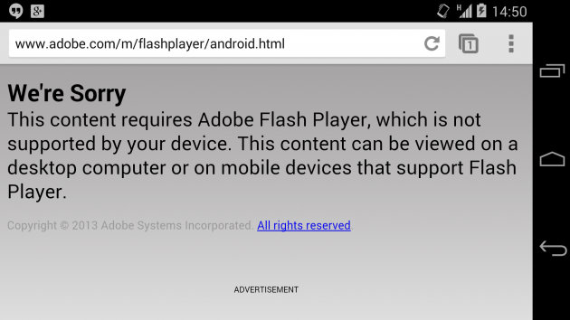 frandroid 4.4 kitkat adobe flash player