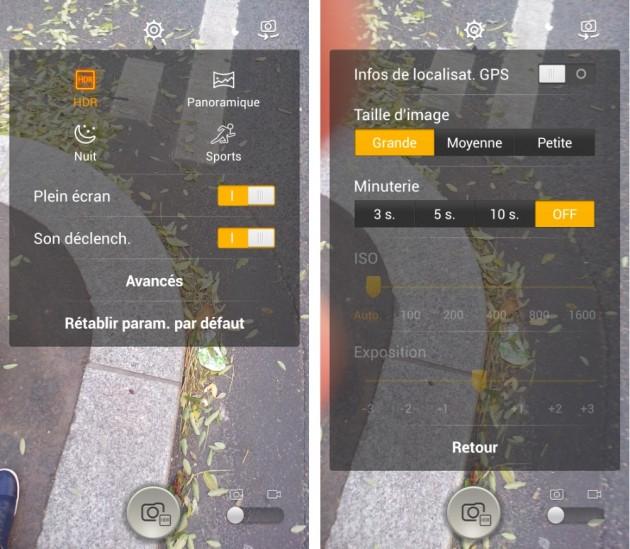 frandroid alcatel one touch idol x appareil photo caméra capteur application logiciel images 0