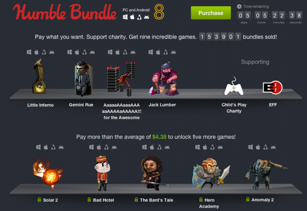 humble bundle pc and android 8 christmas noël