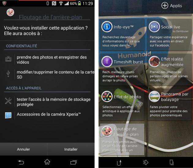 Application-Background-defocus-Xperia Z1-Sony