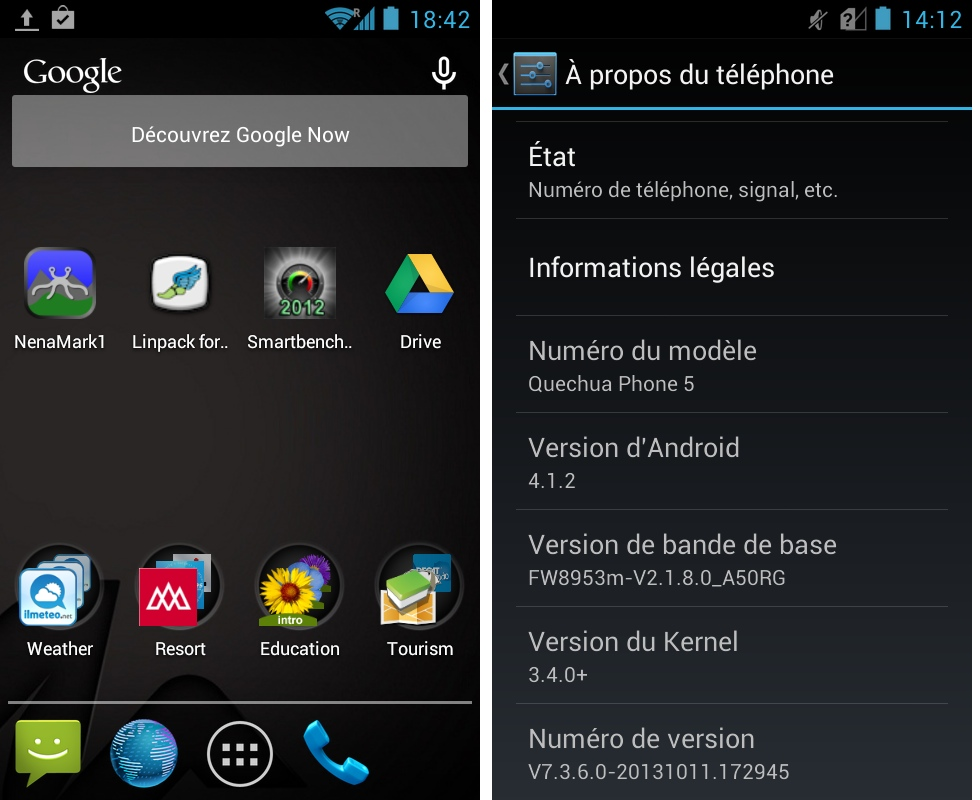 android 4.1.2 jelly bean frandroid quechua phone 5 interface logicielle