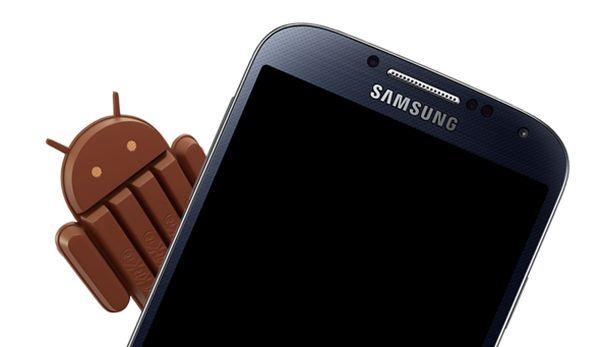 android 4.4 kitkat samsung galaxy s4 leak fuite écran verrouillé antutu 28000 pts
