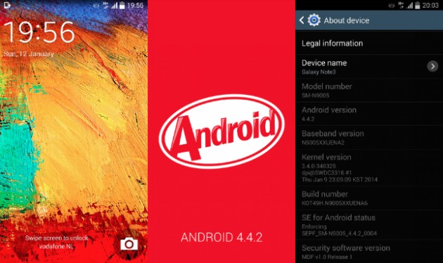 android 4.4.2 kitkat samsung galaxy note 3 gt-n9005 fuite téléchargement