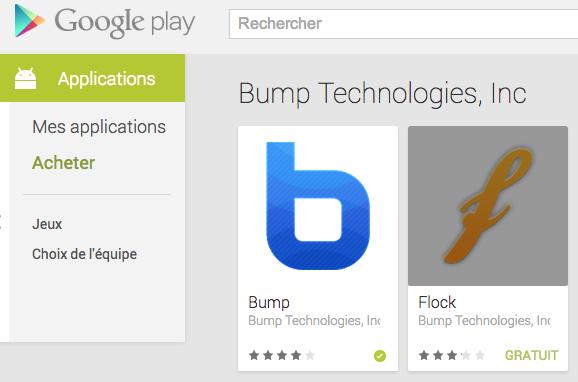 android bump flock google 00