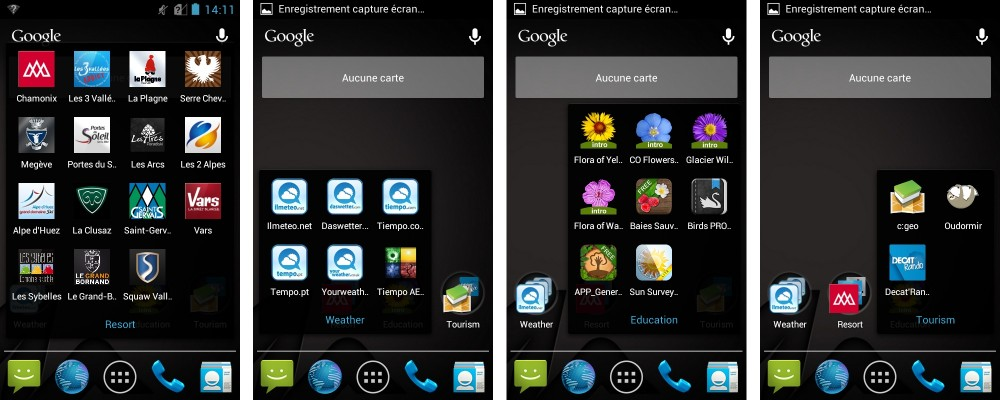 android frandroid quechua phone 5 interface logicielle applications additionnelles