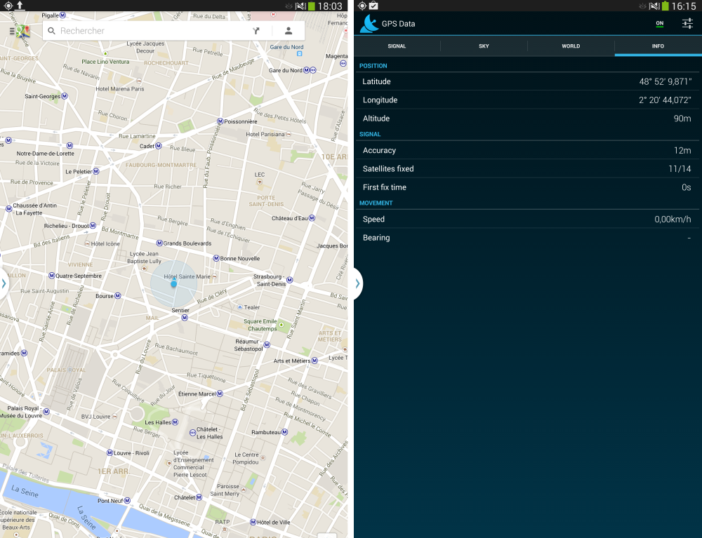 android frandroid test samsung galaxy note 10.1 2014 edition gps geolocalisation synchronisation images 0