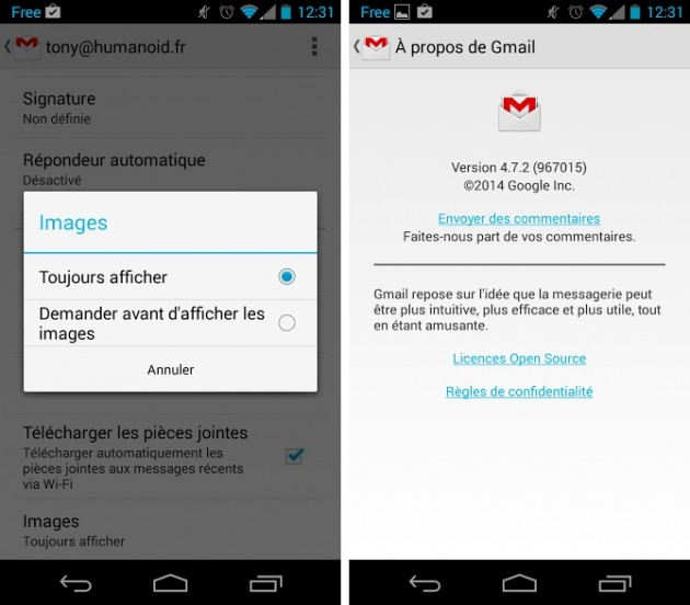 android gmail 4.7.2 capture écran 00
