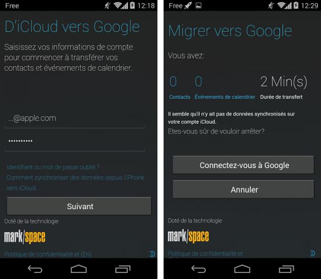 android motorola migrate 1.2.1 icloud