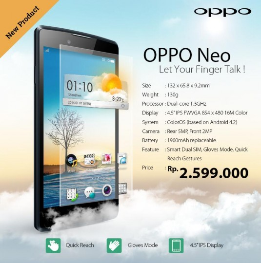 android oppo neo officiel indonésie image 0