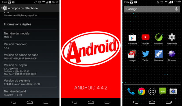 tutoriel forcer mise à jour android 4.4.2 kitkat motorola moto g france fr french