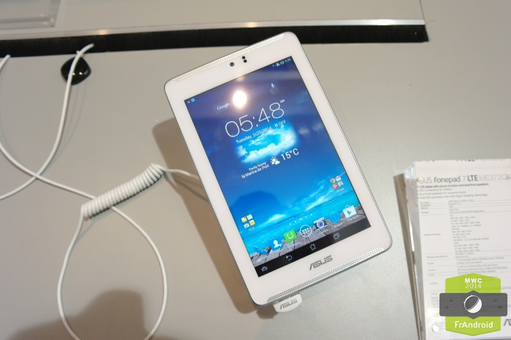 Android Prise En Main FrAndroid ASUS Fonepad ME372C LTE 4G Image 01