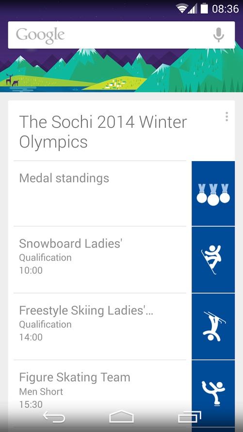Google Now Sotchi 2014
