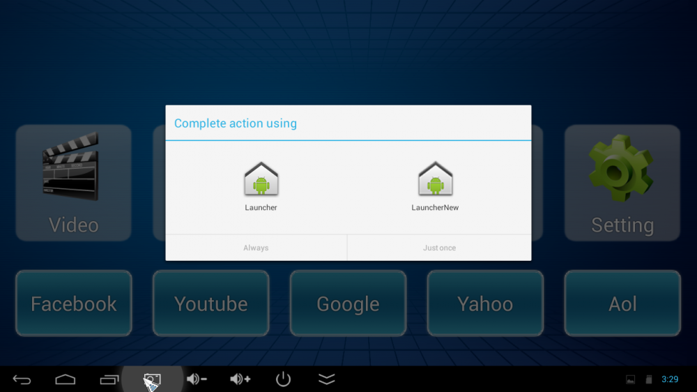 Hub-MiniX-Neo-X7-Android-switch-launcher