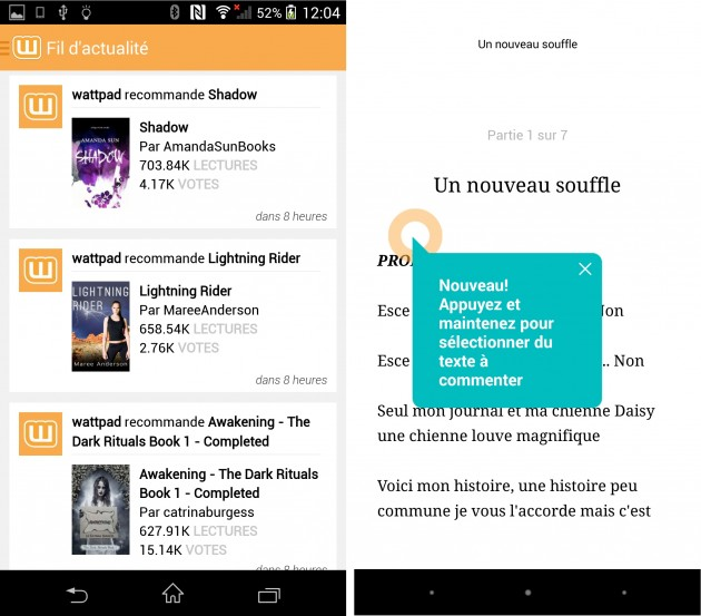 Wattpad-application-ebook-offline-android-comment