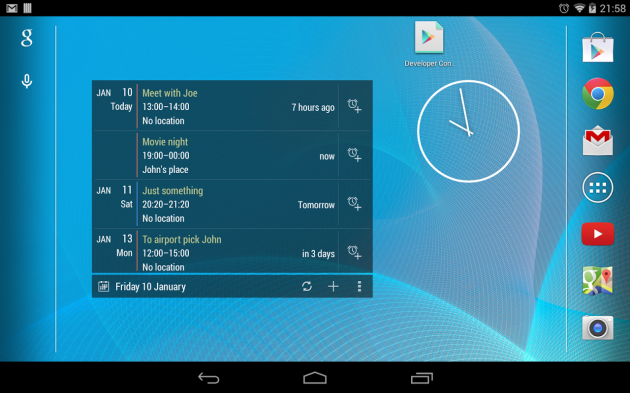 android calendrier widget image 01