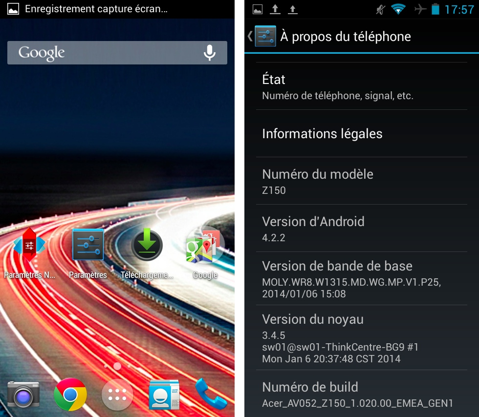android frandroid test interface logicielle acer liquid z5 images 01