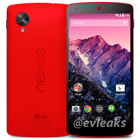 android google nexus 5 rouge image 0