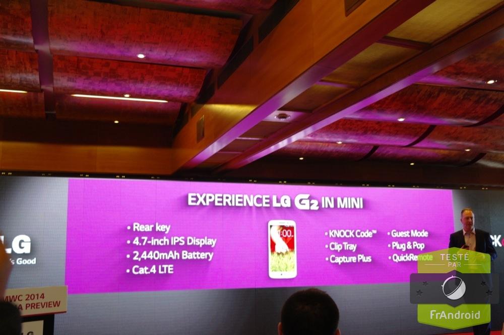android lg g2 mini mwc 2014 prise en main avis