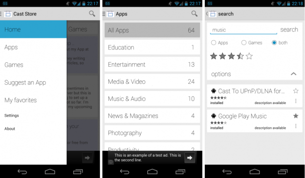 android cast store chromecast apps google play store