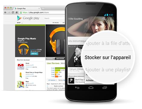 android google play musique hors-ligne offline  déconnecté radio favorités préférées image 01