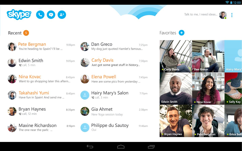Rencontres avec skype
