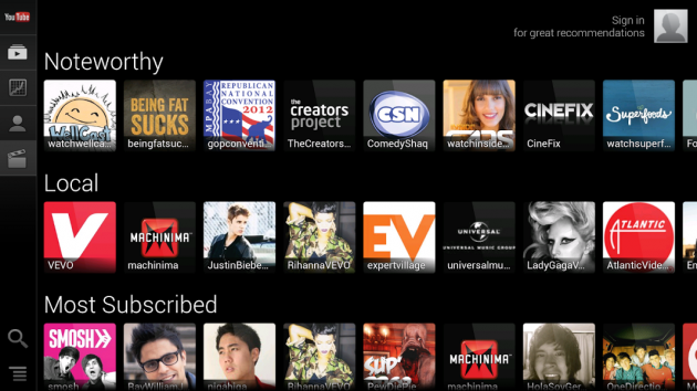 android youtube for tv google tv image 01