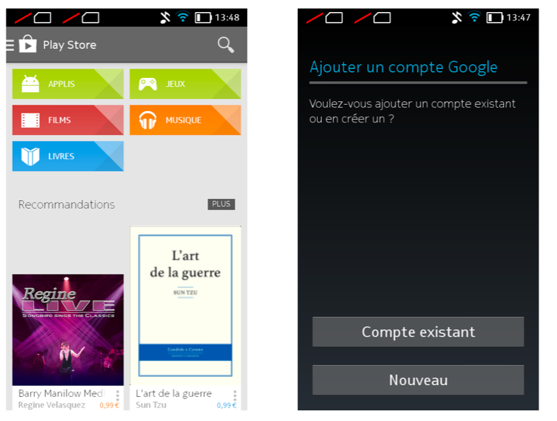 vcomment installer une application android avec google play store