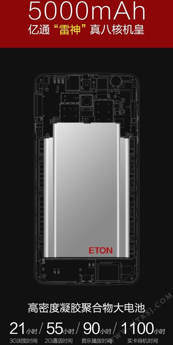 android eton thor batterie battery 5000 mAh image 02