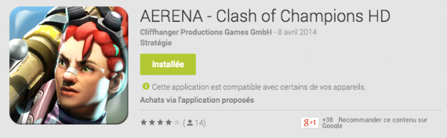 android google play aerena - clash of champions image 01