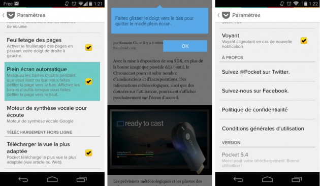 android pocket 5.4 mode immersif plein écran full screen immersive mode images 01