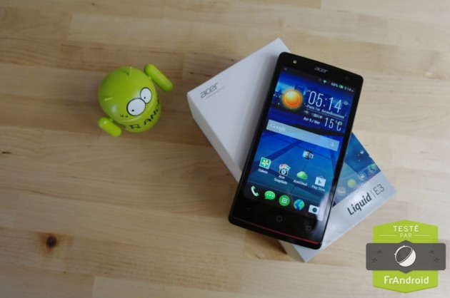android test frandroid acer liquid e3 duo prise en main image 01