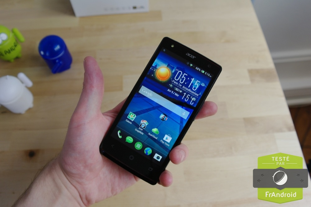 android test frandroid acer liquid e3 duo prise en main image 02