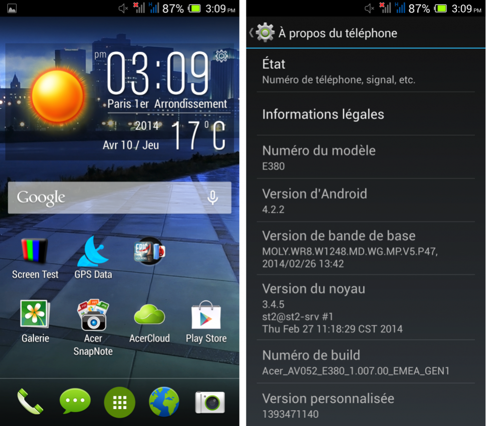 android test frandroid acer liquid e3 interface logicielle 00