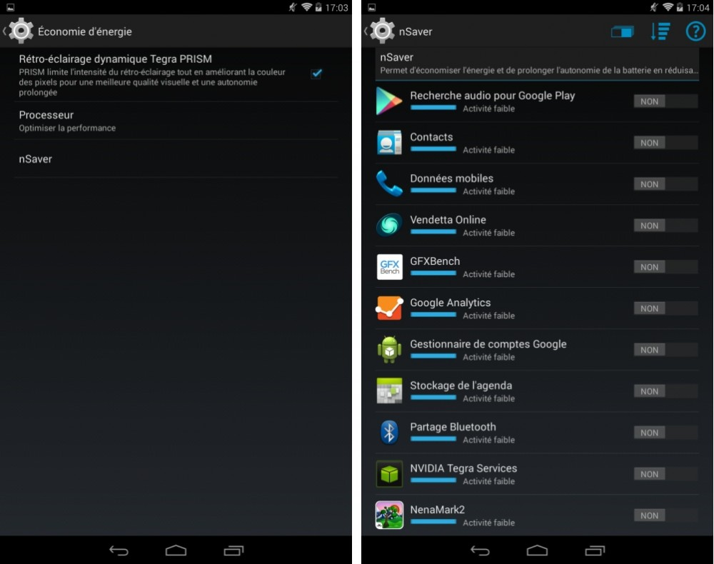 android test nvidia tegra note 7 interface logicielle image 02