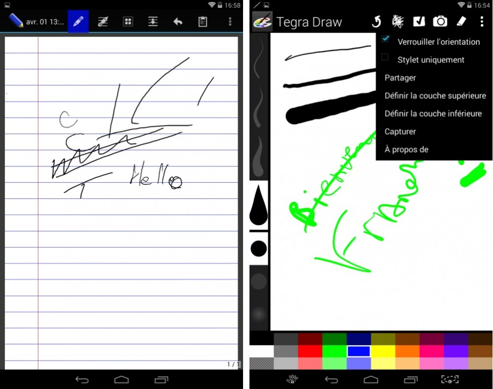 android test nvidia tegra note 7 interface logicielle image 07