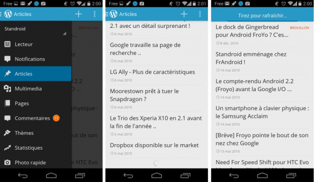android wordpress 3.7.1 tirer-pour-rafraichir défilement infini images 01