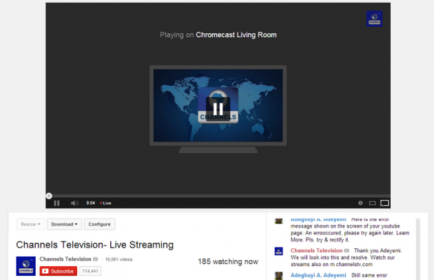 android youtube chromecast live stream vidéos en direct image 01