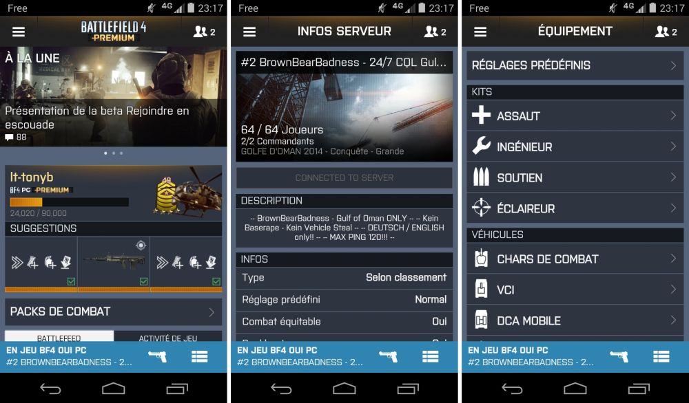 android battlelog 2.2.0 bf3 bf4 capture d'écran recombinées 00