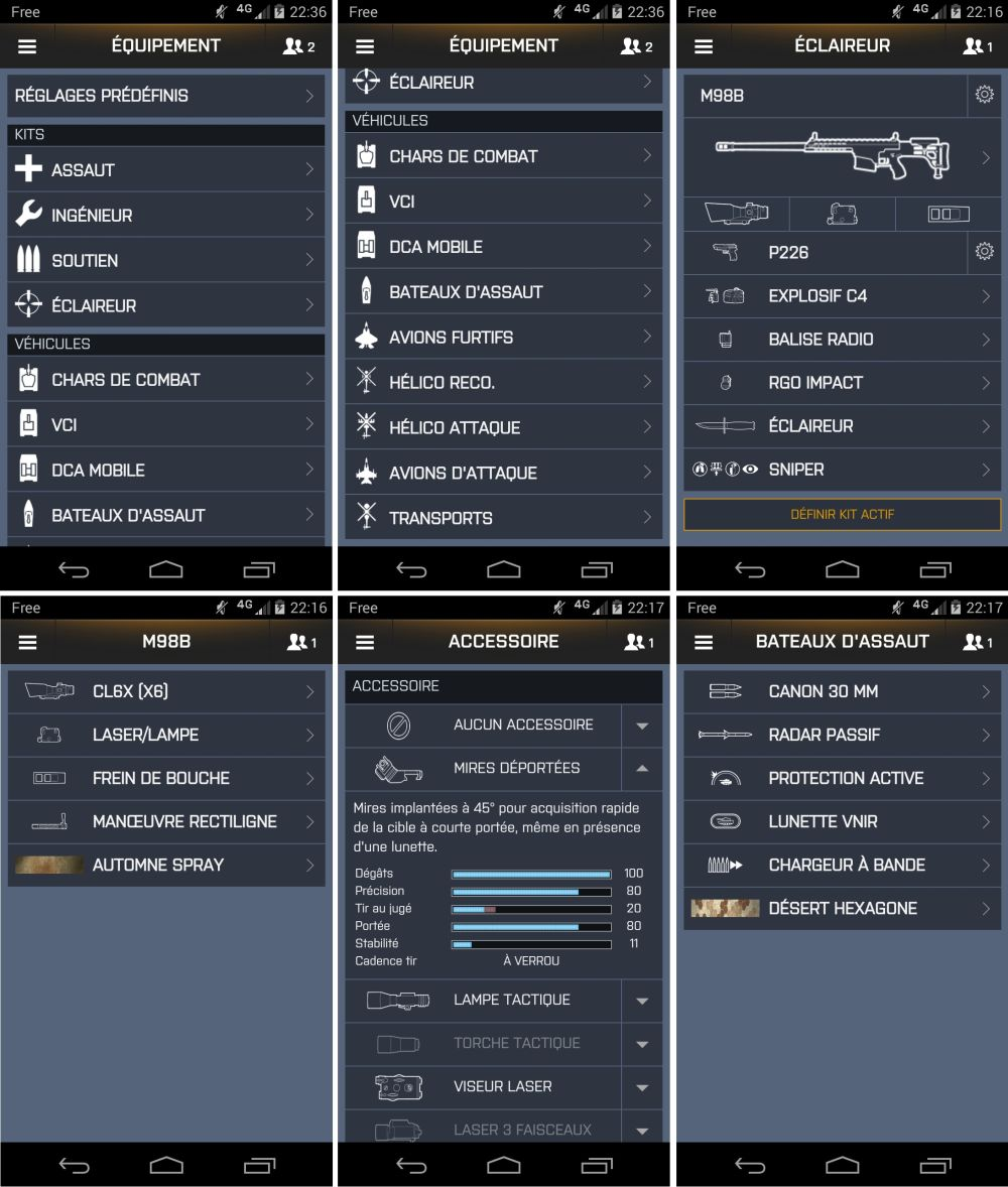 android battlelog 2.2.0 bf3 bf4 capture d'écran recombinées 04