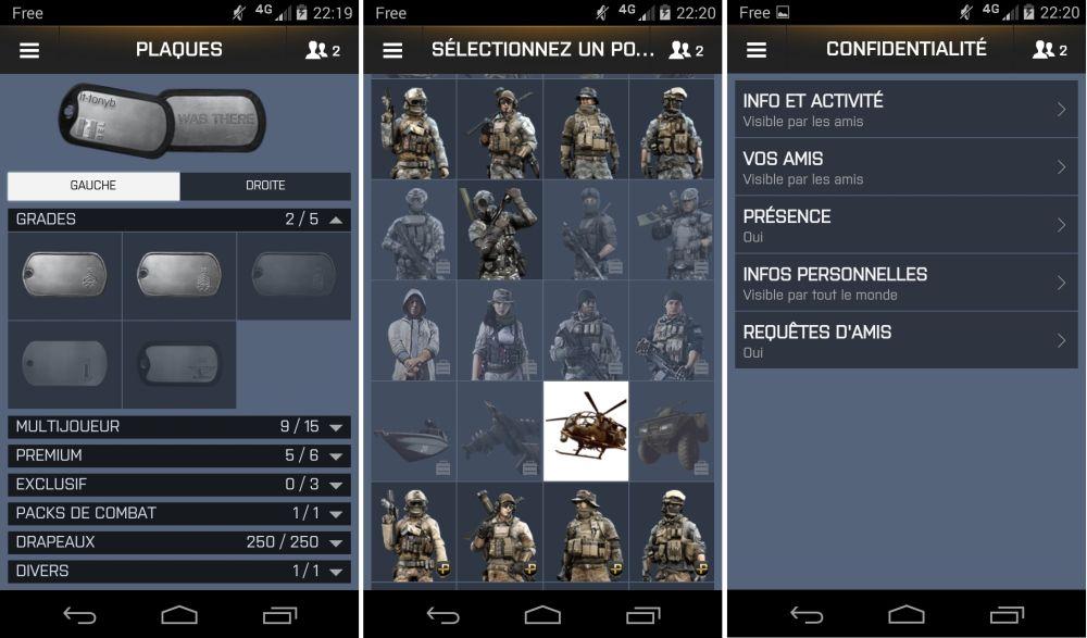 android battlelog 2.2.0 bf3 bf4 capture d'écran recombinées 05